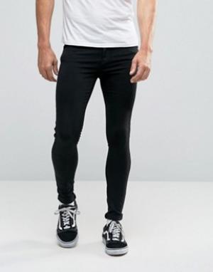 Dr Denim Супероблегающие джинсы Dixy. Цвет: черный