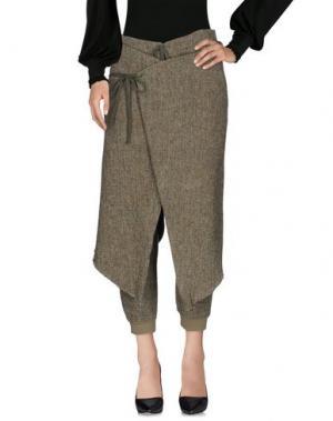 Повседневные брюки GREG LAUREN. Цвет: зеленый-милитари