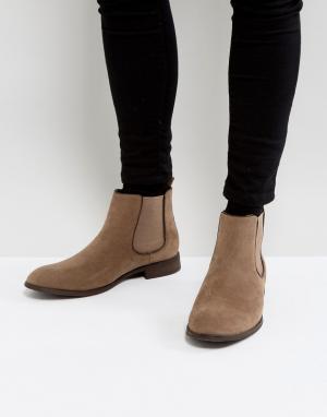 New Look Бежевые ботинки челси из искусственной замши. Цвет: светло-бежевый