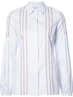 Рубашка с простроченными деталями Gabriela Hearst. Цвет: синий