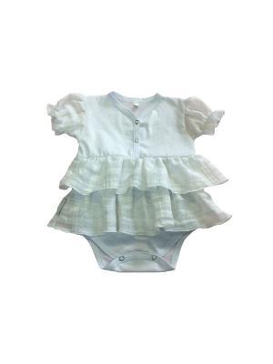 Боди платье Иришка Дашенька. Цвет: белый