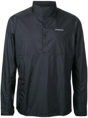 Куртка с отворотной горловиной Patagonia. Цвет: чёрный