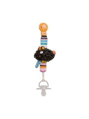 Клипса для пустышки Волчонок Ebulobo. Цвет: черный, голубой, светло-оранжевый, серый