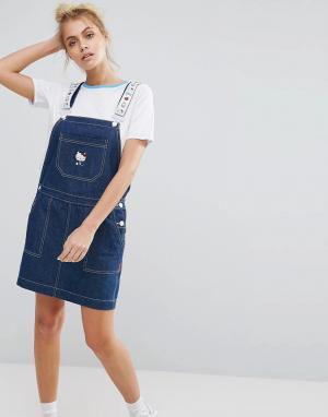 Lazy Oaf Платье-сарафан X Hello Kitty. Цвет: синий