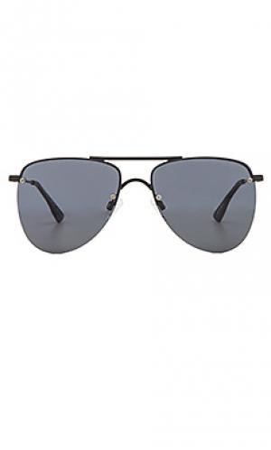 Солнцезащитные очки the prince Le Specs. Цвет: черный