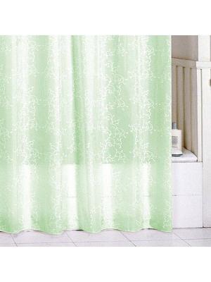 Штора для ванной Milardo. Цвет: зеленый