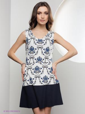 Платье Lussotico. Цвет: белый, синий