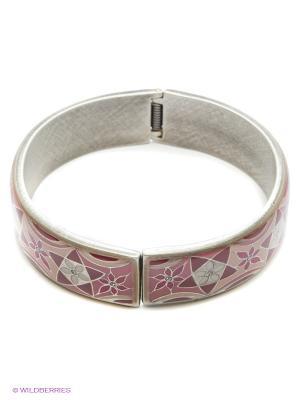 Браслет Clara Bijoux. Цвет: розовый, бордовый, бежевый