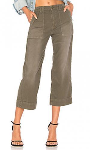Укороченные брюки карго painter Joie. Цвет: зеленый