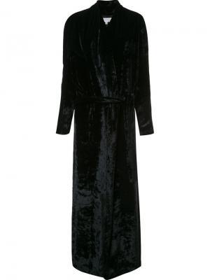 Long velvet coat Galvan. Цвет: чёрный