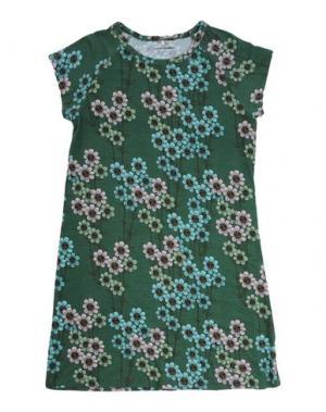 Платье MINI RODINI. Цвет: зеленый