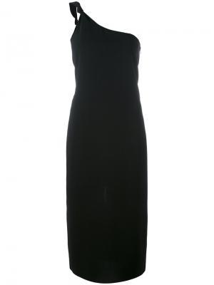 Платье на одно плечо Toteme. Цвет: чёрный