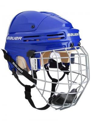 Шлем с маской BAUER 4500 COMBO Взрослый. Цвет: синий, серебристый