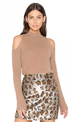 Свитер с открытыми плечами gianna 360 Sweater. Цвет: коричневый