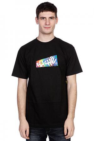 Футболка  Paper Tie Dye Black Cliche. Цвет: черный