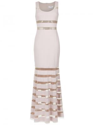 Tulle panelled maxi dress Gloria Coelho. Цвет: розовый и фиолетовый