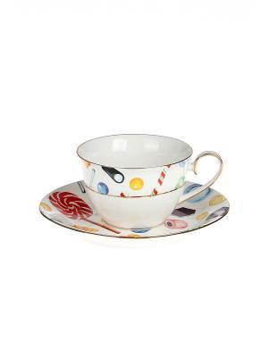 Набор чайный 2 предмета 220 мл. PATRICIA. Цвет: белый