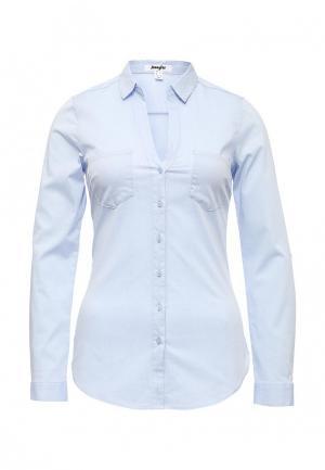 Рубашка Jennyfer. Цвет: голубой