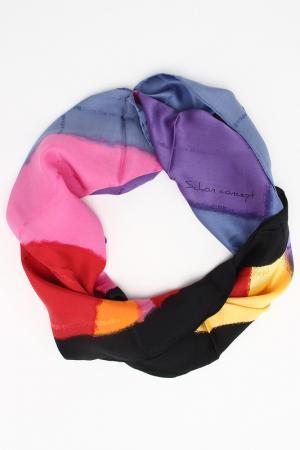 Платок Mila Schon. Цвет: фиолетовый