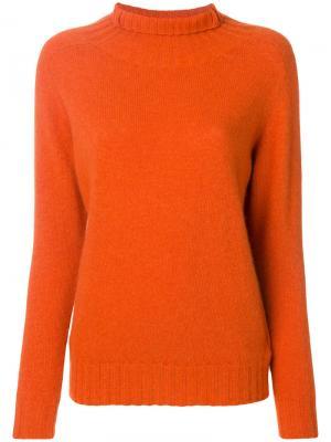 Свитер с высокой горловиной Zanone. Цвет: жёлтый и оранжевый