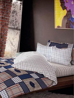 Комплект постельного белья, Поло Волшебная ночь. Цвет: коричневый