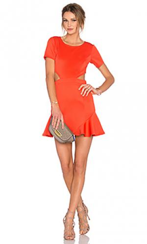 Платье eternal Lovers + Friends. Цвет: оранжевый