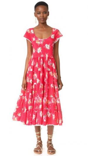 Романтичное платье Gypsy Soul Athena Procopiou. Цвет: красный/микс