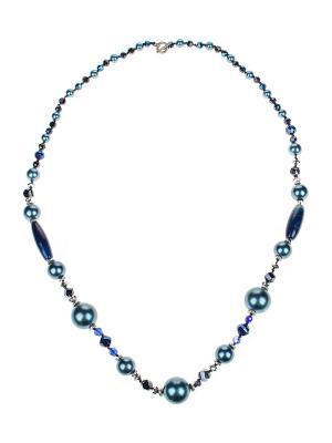 Колье Gusachi. Цвет: синий, голубой, серебристый