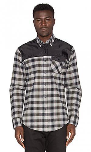 Рубашка complex Staple. Цвет: серый