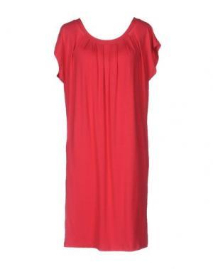 Короткое платье EMISPHERE. Цвет: коралловый