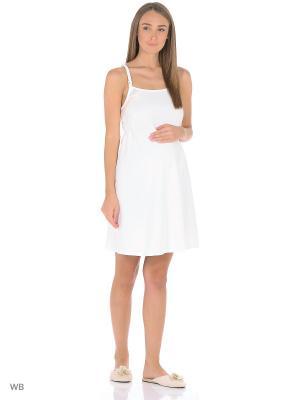 Сорочка женская для беременных и кормящих Hunny Mammy. Цвет: голубой, молочный