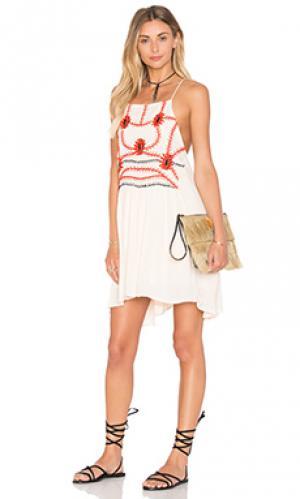 Мини платье sumatra flare PIPER. Цвет: ivory
