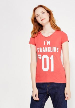 Футболка Franklin & Marshall. Цвет: розовый