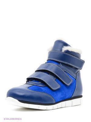 Спортивные ботинки San Marko. Цвет: лазурный, синий