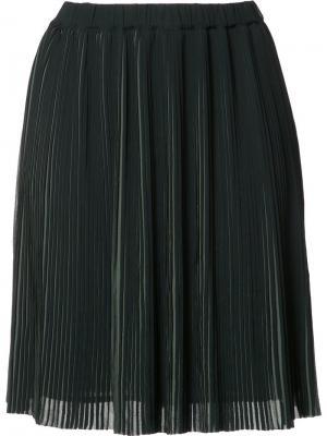 Плиссированная юбка мини Just Female. Цвет: зелёный