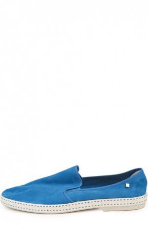 Замшевые эспадрильи Rivieras Leisure Shoes. Цвет: синий