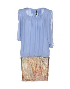 Короткое платье LUNATIC. Цвет: небесно-голубой