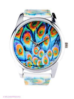 Часы Mitya Veselkov. Цвет: голубой, светло-оранжевый, серебристый