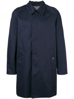 Однобортное пальто Sunspel. Цвет: синий