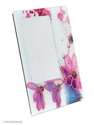 Фоторамка glitter flower VELD-CO. Цвет: фиолетовый, розовый