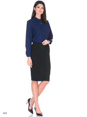 Блузка SARTORI DODICI. Цвет: темно-синий