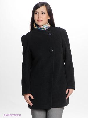 Пальто Gemko plus size. Цвет: антрацитовый