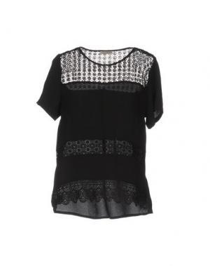 Блузка CASHMERE COMPANY. Цвет: черный