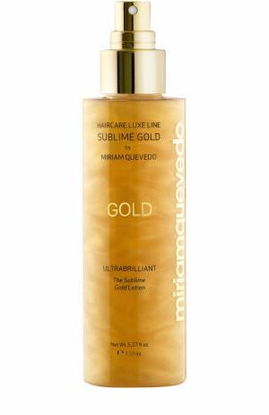 Золотой спрей-лосьон для ультра блеска волос Miriamquevedo. Цвет: бесцветный