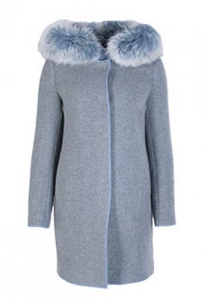 Пальто MOUCHE. Цвет: серый
