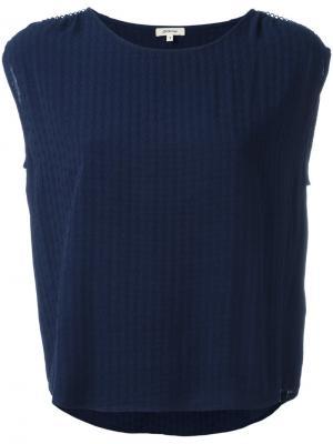 Топ с вышивкой Bellerose. Цвет: синий