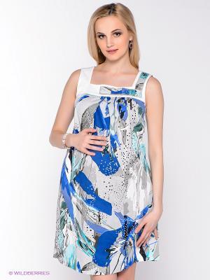 Платье UNIOSTAR. Цвет: белый, серый, голубой