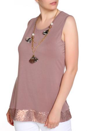 Блуза LAVELLE. Цвет: коричневый