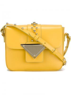 Сумка через плечо Lucy Sara Battaglia. Цвет: жёлтый и оранжевый