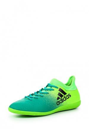 Бутсы зальные adidas Performance. Цвет: зеленый